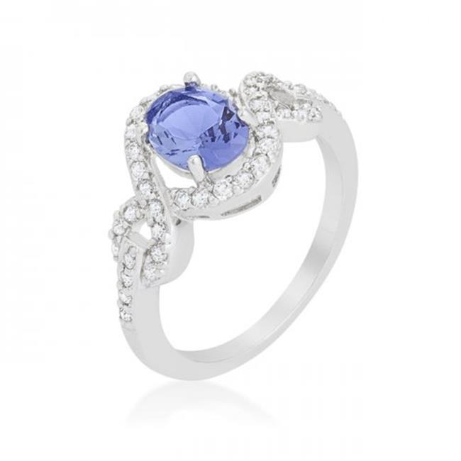 Tanzanite Halo Pave Cocktail Ring, Size 6 - image 1 of 1