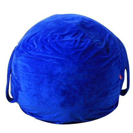 Mosunx Kids Stuffed Animal Plush Toy Storage Bean Bag Soft Pouch Stripe Fabric Chair (Bean Bag Toss Distance)