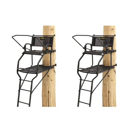 (Rivers Edge RE655 Lockdown Wide 1 Man Deer Hunting Tree Ladder Stand (2 Pack))