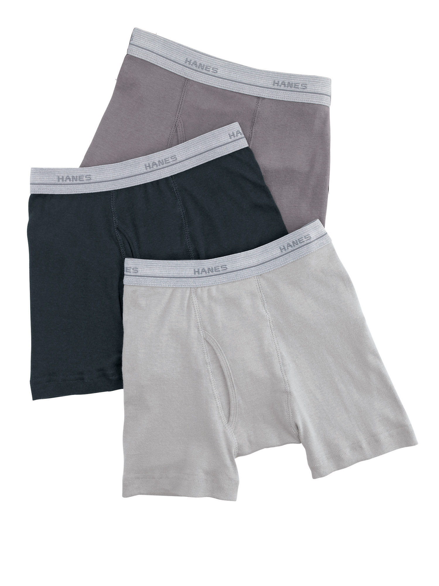 38-58 Pounds Black//Grey, Small Hanes Boys 6 Pack Ultimate Brief