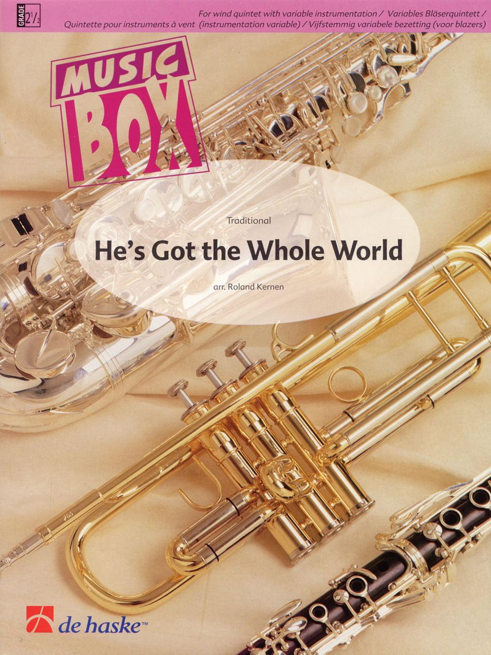 De Haske Music He's Got the Whole World Concert Band Level 2.5 Arranged by Roland Kernen by De Haske Music