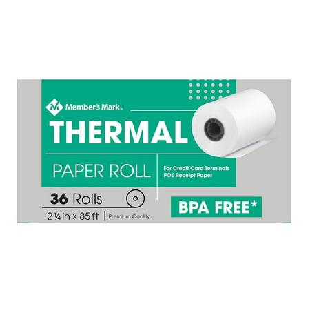 Member's Mark Thermal Receipt Paper Rolls, 2 1/4