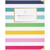 Emily Ley Simplified Happy Stripe Weekly-Monthly Hardcover Planner - 2020 Yearly