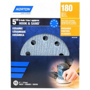 Ali Industries 50155-038 5 in. 8 Hole Premium Hook & Loop Ceramic Sanding Disc, 15 Pack