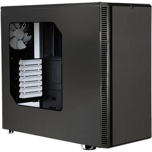 Fractal Design Define R4 with Side Panel Window Computer Case, Black Pearl