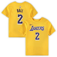 Lonzo Ball Los Angeles Lakers Nike Preschool Name & Number T-Shirt - Yellow