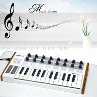 Worlde Ultra-Portable Mini Professional 25-Key USB MIDI Drum Pad and Keyboard Controller
