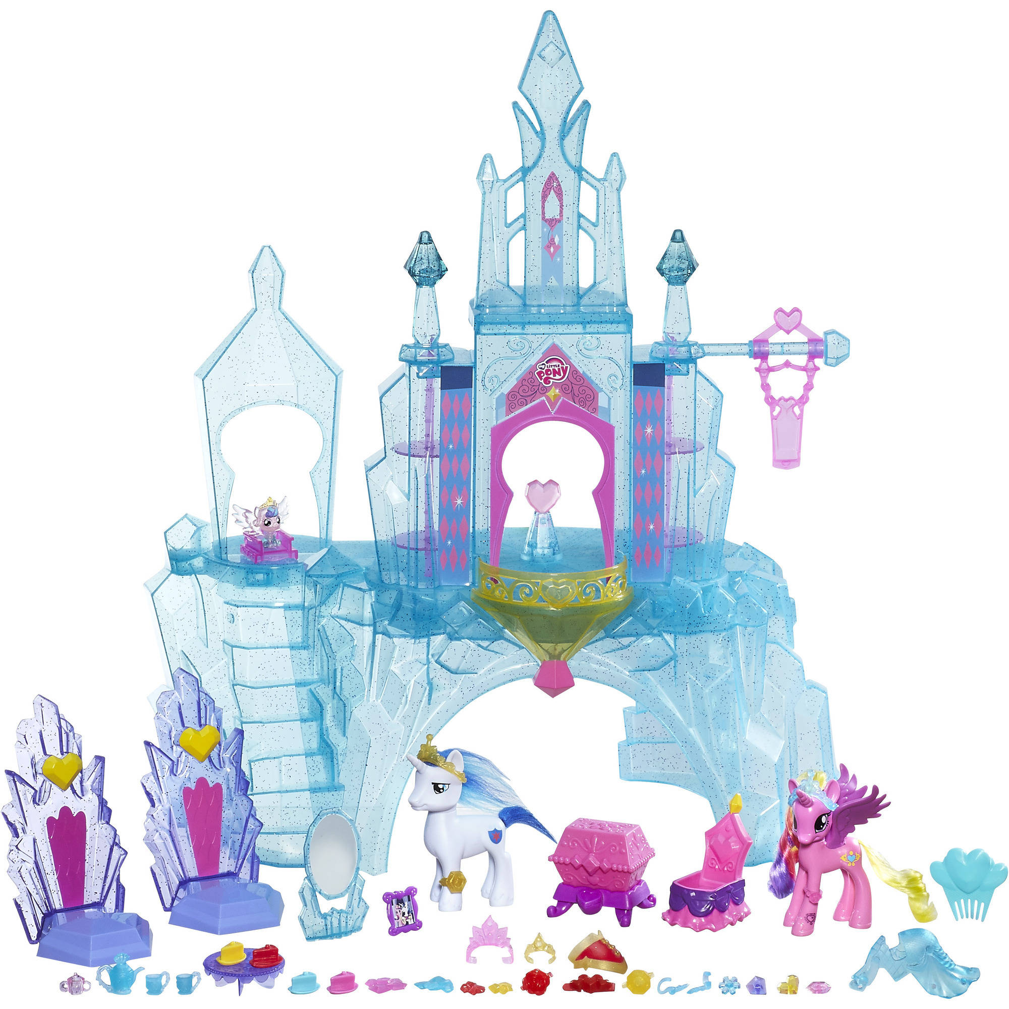 My Little Pony Explore Equestria Crystal Empire Castle Value Pack -  Walmart.com