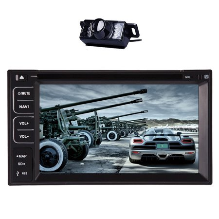 DVD Player Headunit Multimedia MP5 Autoradio In Deck Car Video Car Stereo Electronics Double Din Vehicle Parts MP3 Music Auto Radio EQ Subwoofer Steering Wheel control high quality Rear View