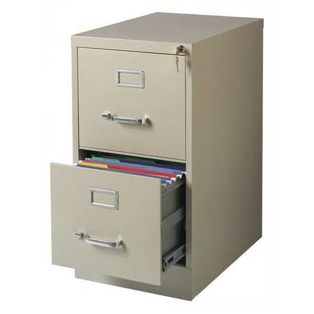 Superieur Hirsh 22 Inch Deep 2 Drawer, Letter Size Vertical File Cabinet,