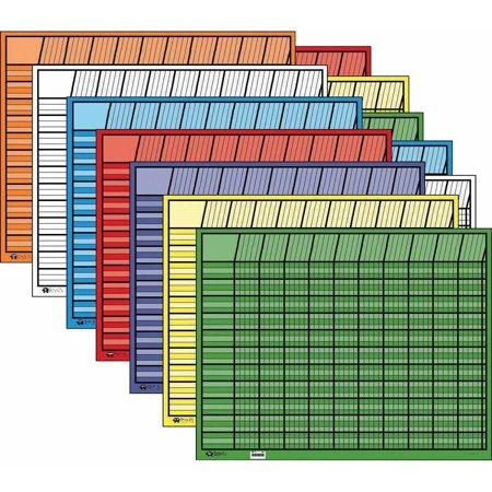 Horizontal Jumbo Incentive Charts - Creative Shapes Etc Large Horizontal Incentive Chart Set, 28 x 22 Inches, Assorted Color, Set of 12