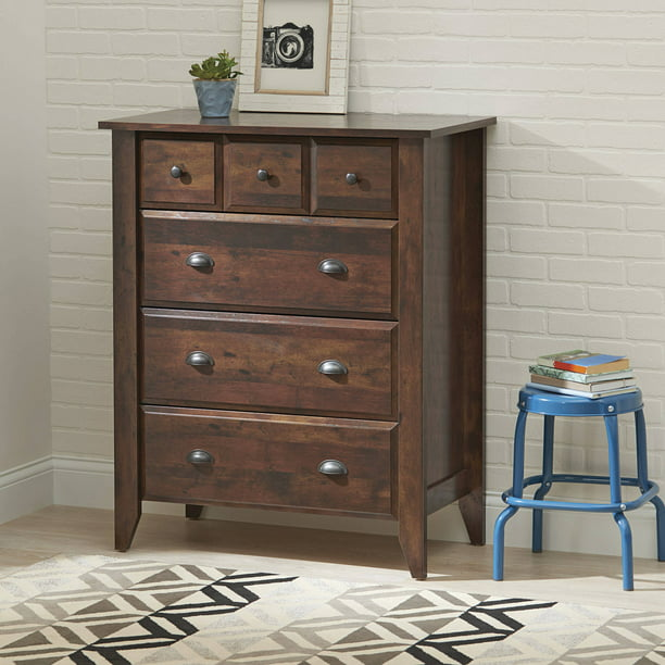 Better Homes & Gardens Leighton 4-Drawer Dresser, Rustic Cherry Finish