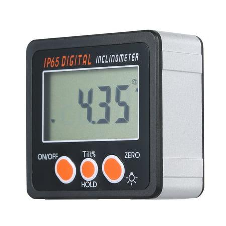 Multi-functional Digital Inclinometer IP65 Waterproof Aluminum Alloy Shell Electronic Protractor 4 * 90 Degree Range Mini Digital Angle Gauge with (Aguila Mini 12 Gauge Shells For Sale)