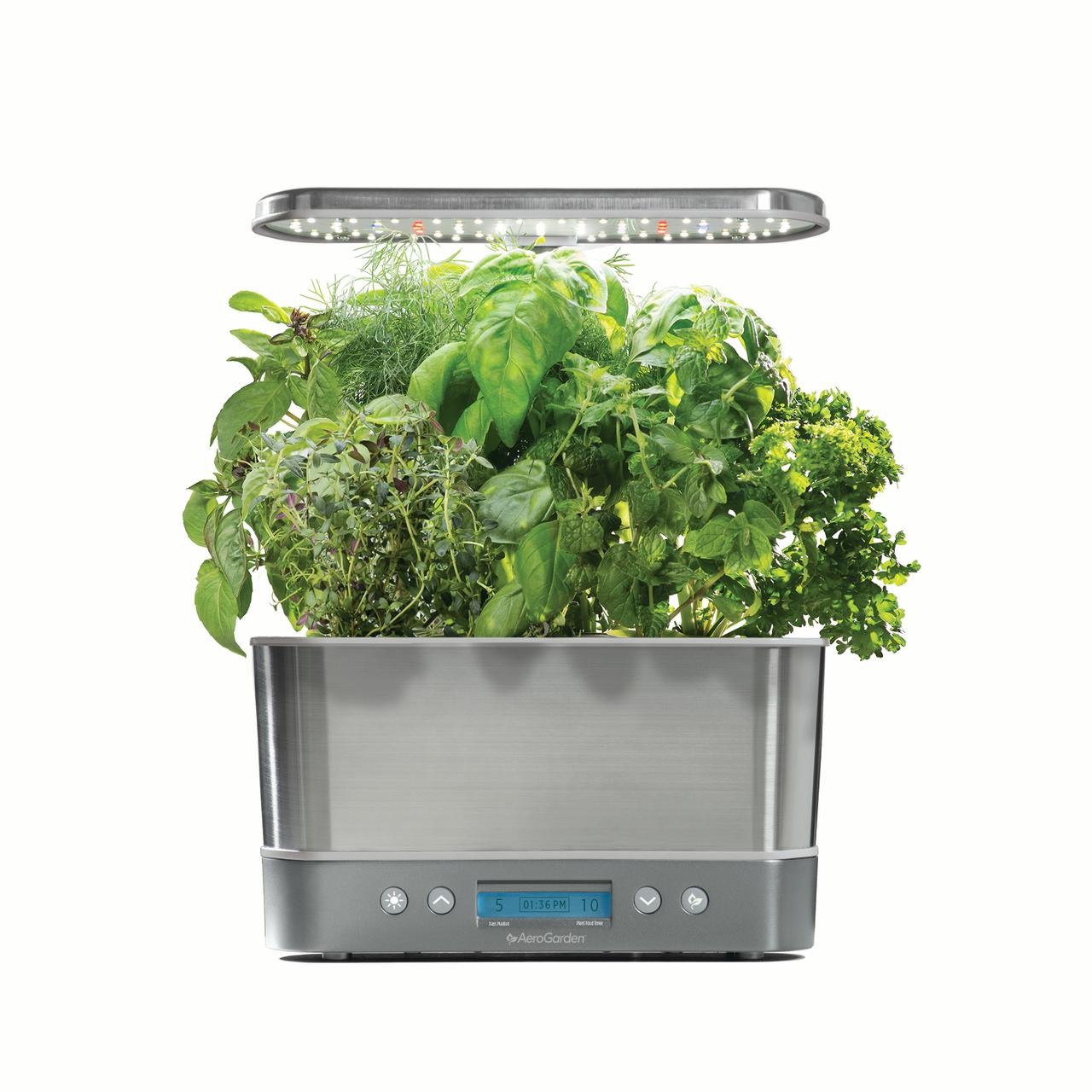 AeroGarden Harvest Elite, Stainless with Gourmet Herbs Seed Kit