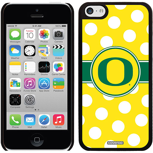 Oregon Ducks Polka Dots Design on iPhone 5c Thinshield Snap-On Case by Coveroo