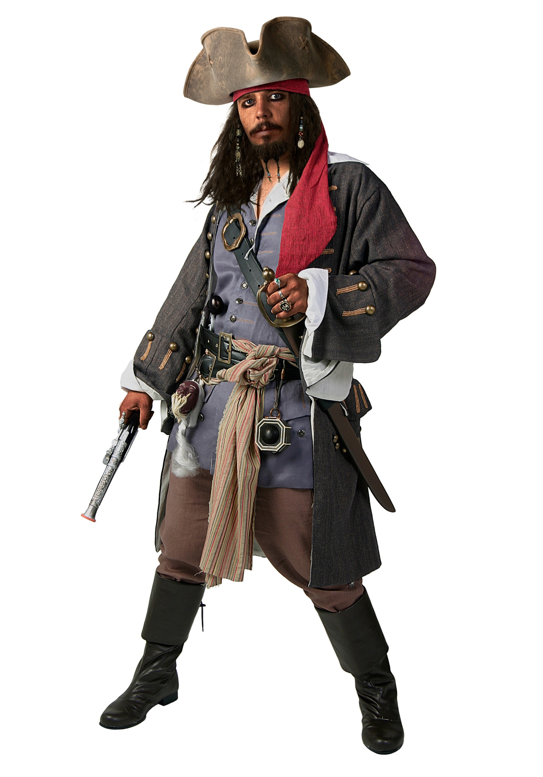 Plus Size Realistic Caribbean Pirate Costume by Bayi Co.