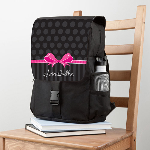 Personalized Sweet Bow Backpack