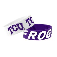 TCU Horned Frogs Bracelets 2 Pack Wide