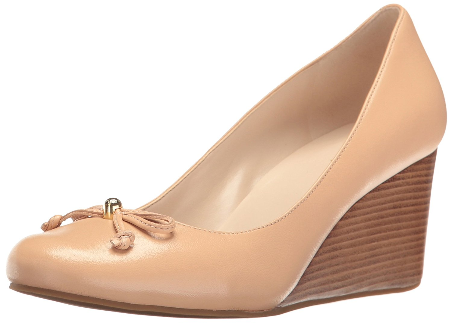 Cole Haan Womens Elsie Lce Wdg Leather Closed Toe Wedge Pumps