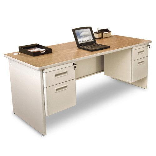 Marvel Pronto Double Pedestal Desk - 72W x 36D