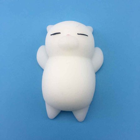 4pcs Mini Mochi Squishy Cat Squeeze Toy Animal Stress Reliever Toys Slow Rising Healing Toy - image 6 of 8