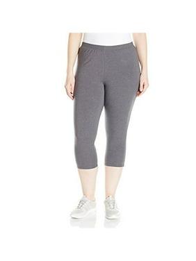 c986f2b2da0277 Product Image 90563242054 Womens Plus-Size Stretch Jersey Capri Legging -  Charcoal Heather, 2X