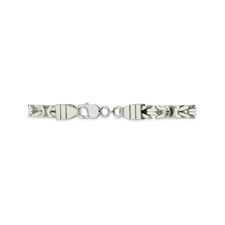 8 25 mm 925 Sterling Silver Byzantine Chain Necklace - 20 Inch