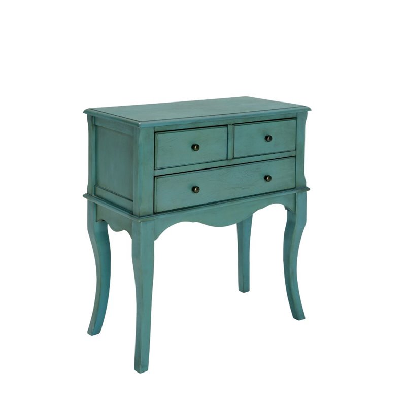 Charmant Furniture Of America Jonah Vintage Console Table In Antique Teal