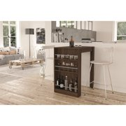 Boahaus Stylish Bar Table with Wine Storage