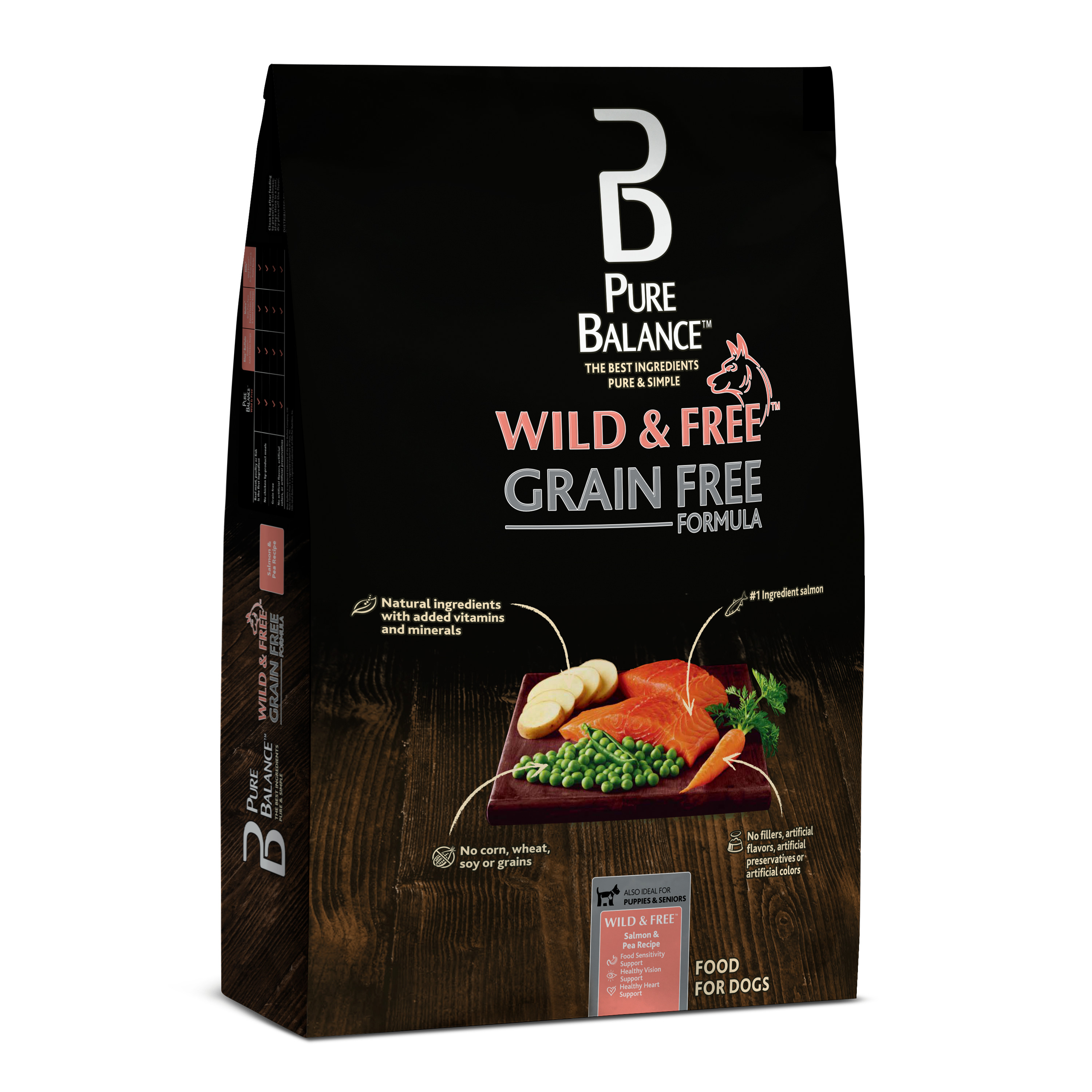 Pure Balance Wild & Free Grain-Free Salmon & Pea Recipe Dry Dog Food, 24 lb