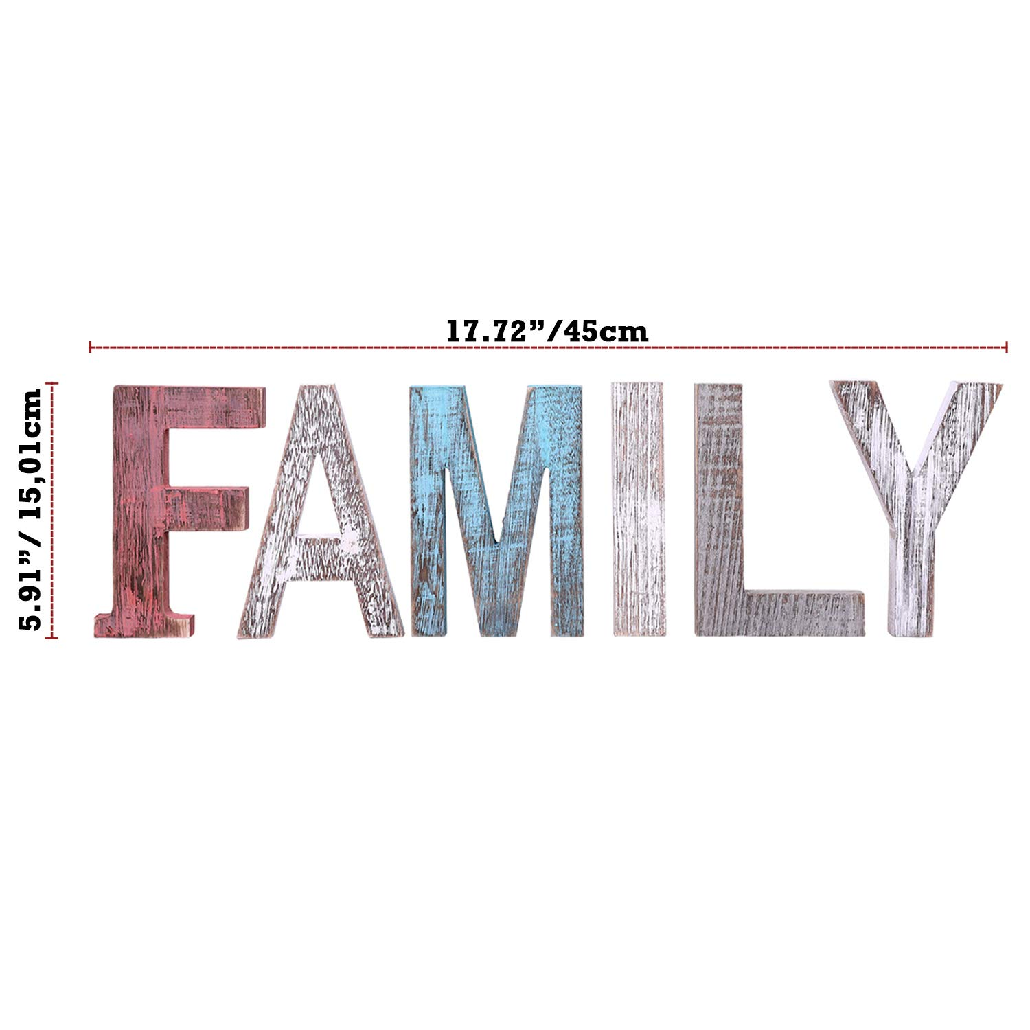 Comfify Family Decorative Wooden Letters Large Wood