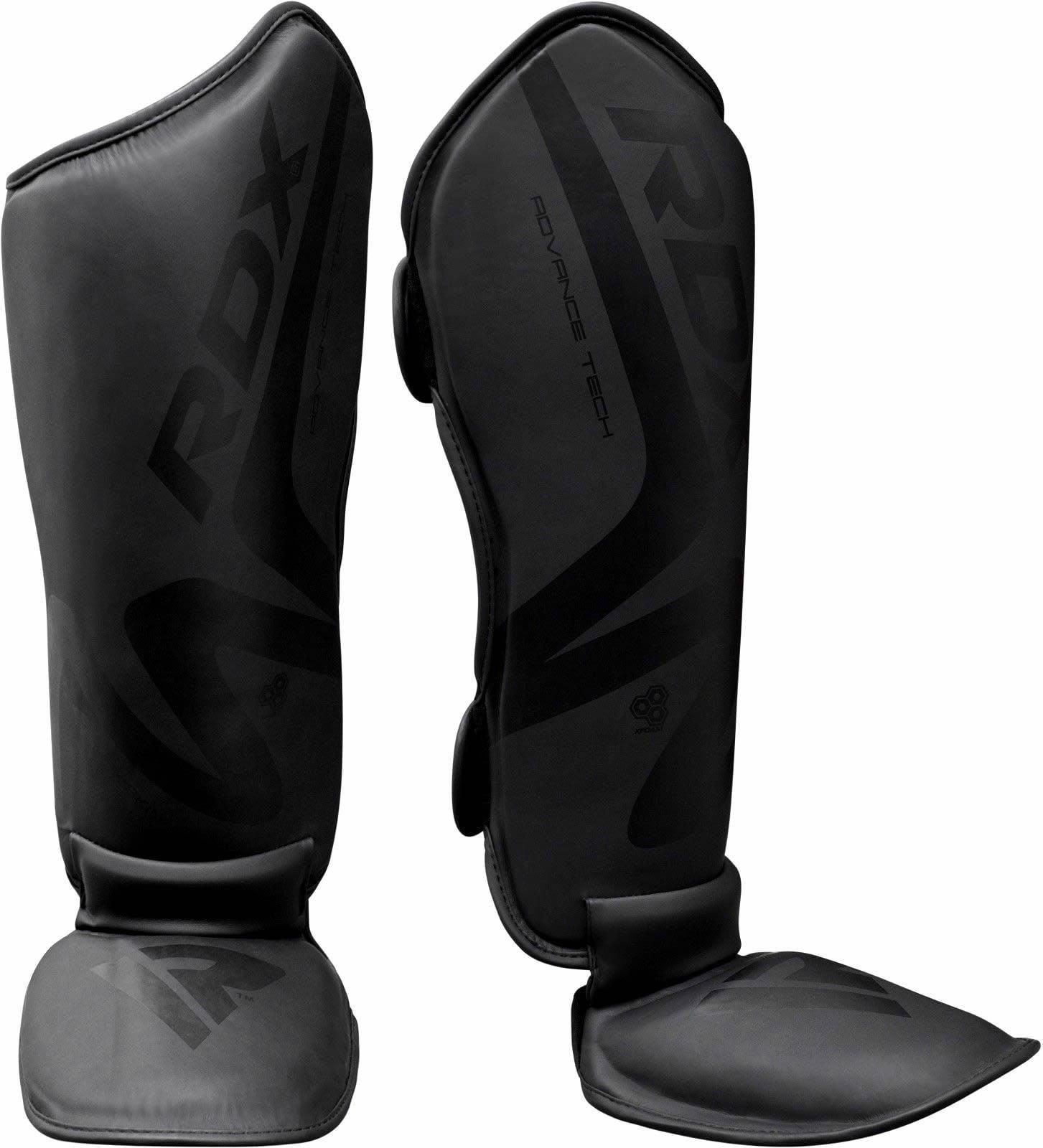 Boxing Shin Guards Shin Instep Muay Thai Black Kick Boxing Leg Pads