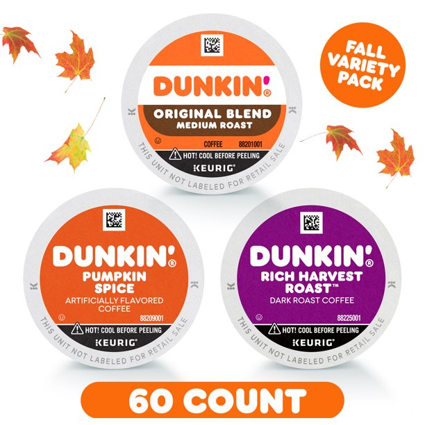 Dunkin' Limited Edition Fall Coffee K-Cup Variety Pack, 3 ...