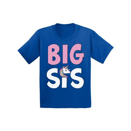 Awkward Styles Big Sister Outfit for Girls Infant Shirt Unicorn B Day Gifts for Sister Sis Infant T-Shirt Girls Birthday Gifts Lovely Kids Clothes Collection I am Big Sister T-Shirt for Daughter](Blue Nose Friends Unicorn)