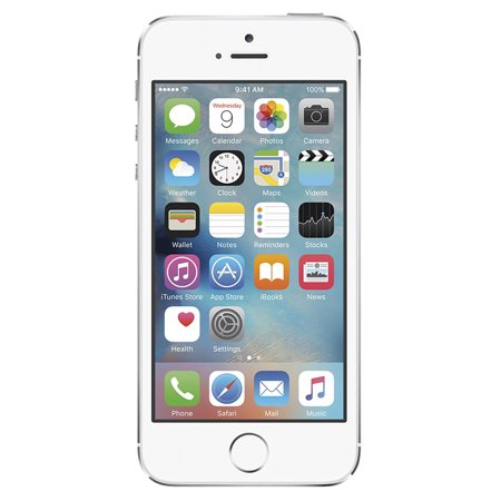 apple iphone 5s 16gb factory unlocked gsm cell phone silver white refurbished. Black Bedroom Furniture Sets. Home Design Ideas