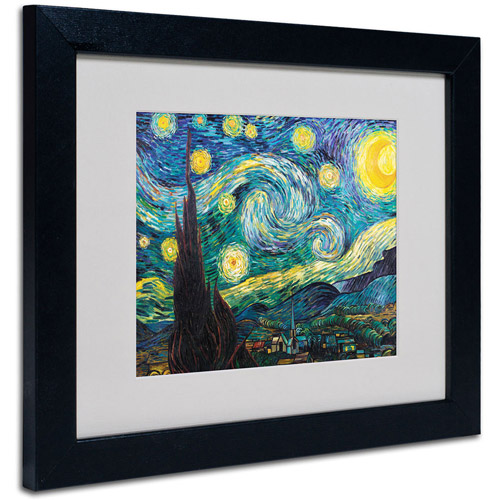 Trademark Fine Art 'Starry Night' Framed Matted Art by Vincent van Gogh