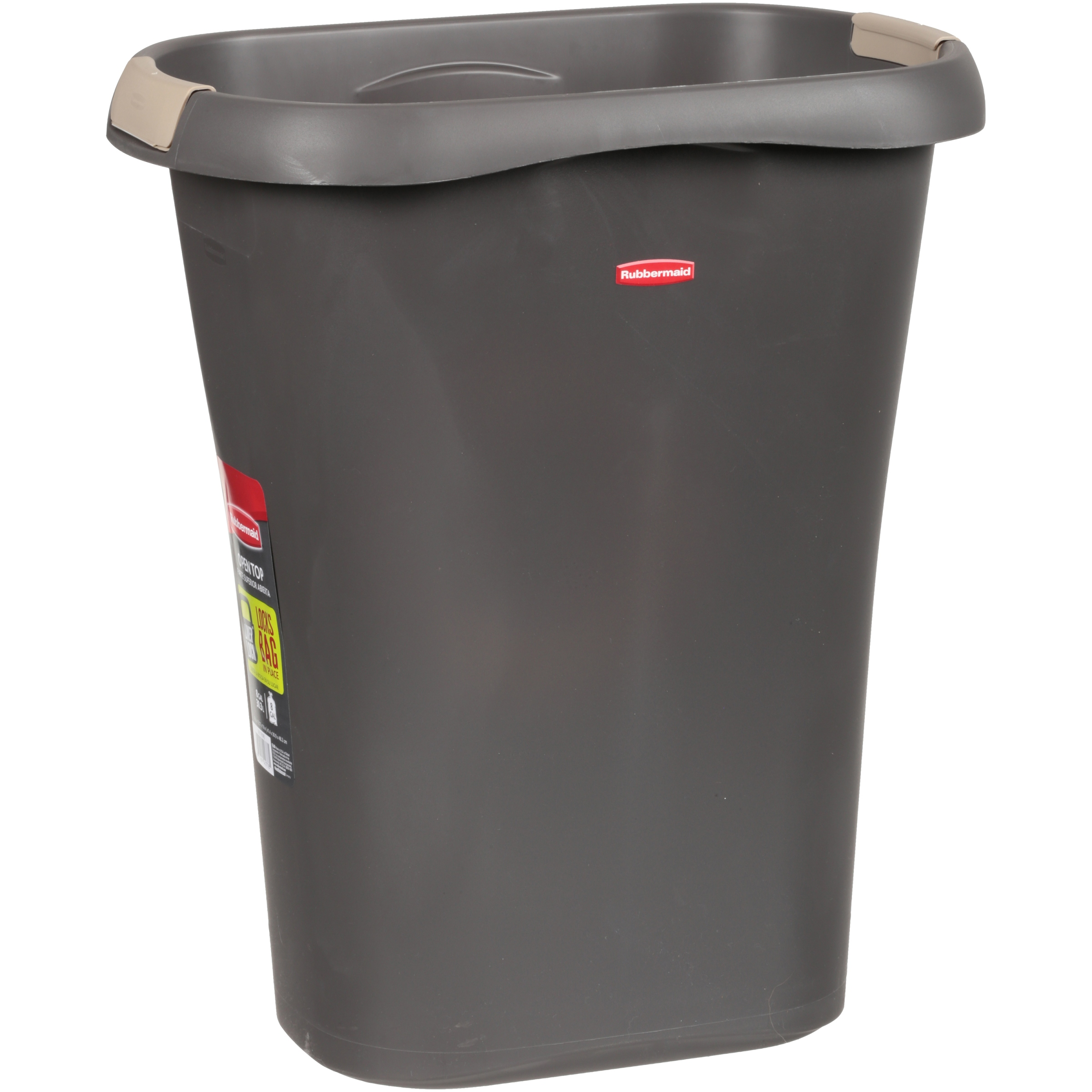 rubbermaid open top 8 gallon trash can. Black Bedroom Furniture Sets. Home Design Ideas