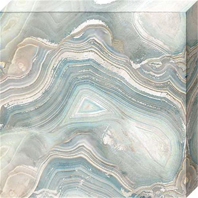 North American Art NC1091 16 x 16 in. Blue Agate I Canvas Gallery Wrapped Art Print