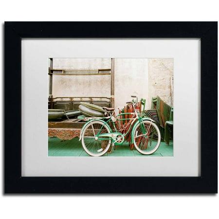 Trademark Fine Art 'Vintage Bike' Canvas Art by Ariane Moshayedi, White Matte, Black Frame