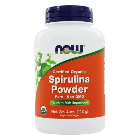 NOW Foods - spiruline en poudre 100% pur et naturel - 4 oz