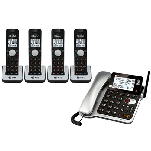 AT&T CL84402 DECT 6.0 Corded / Cordless Phone w/ 14 Minute Digital Answering System