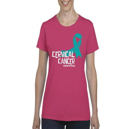 Cervical Cancer Awareness Women Shirts T-Shirt Tee ()