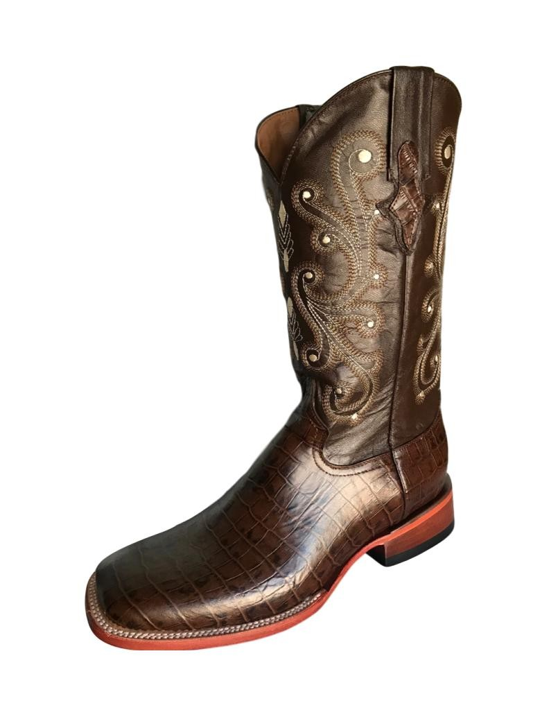 Ferrini Western Boots Mens Caiman Gator Cowboy Chocolate 40793-09 by Ferrini