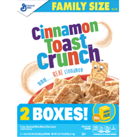 Cinnamon Toast Crunch Cereal, 2 Boxes - 38.6 Oz