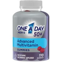 One A Day Mens 50+ Gummies Multivitamin w/ Brain Support, 110 Count