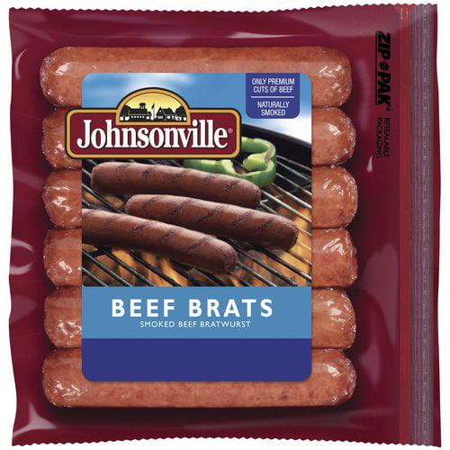 Johnsonville Sausage Beef Brats, 14 oz