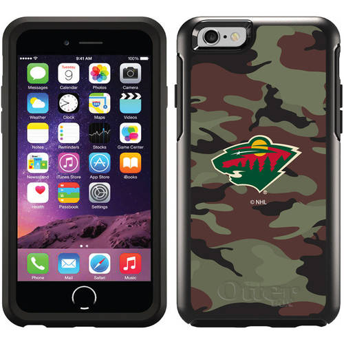 Minnesota Wild Traditional Camo Design on OtterBox Symmetry Series Case for Apple iPhone 6