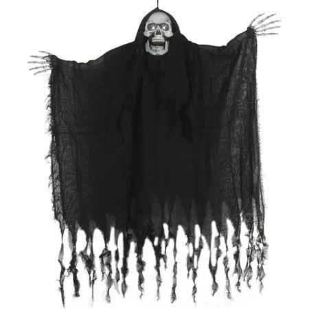 Star Power Light & Sound Hanging Skeleton Ghost 39