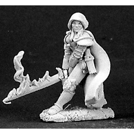 Reaper Miniatures Justine, Undead Hunter #03149 Dark Heaven Unpainted Metal