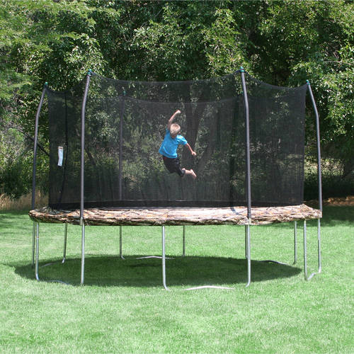 Skywalker Trampolines 15' Round Trampoline and Enclosure - Camo